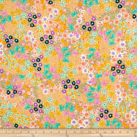 QT Fabrics  Adeline Packed Floral Yellow