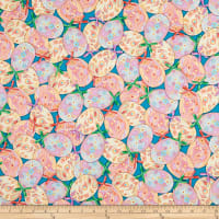 QT Fabrics Happy Easter Packed Easter Eggs & Bows Teal
