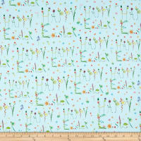QT Fabrics Happy Easter Happy Easter Words Light Blue