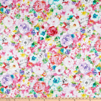 QT Fabrics  Annabelle Watercolor Floral Multi