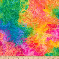QT Fabrics  Mirage Abstract Multi