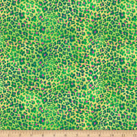 QT Fabrics  Mirage Animal Print Green