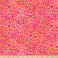 QT Fabrics  Mirage Animal Print Yellow