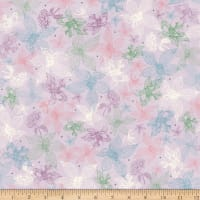 QT Fabrics Mirabelle Midnight Garden Sketched Floral Light Lilac