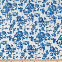 Telio Dakota Rayon Jersey Knit Floral Royal