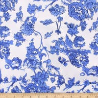 Telio Chacha Stretch Denim Floral Royal