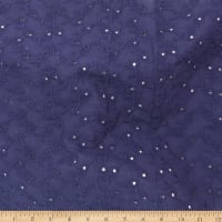Telio Gold Fish Cotton Eyelet Navy