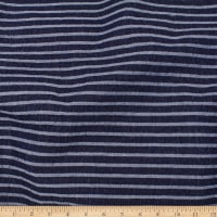 Telio Arise Denim Jacquard Stripe Dark Blue