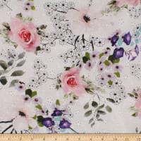 Telio Digital Cotton Eyelet Floral Rose