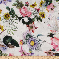 Telio Digital Cotton Eyelet Floral Multi