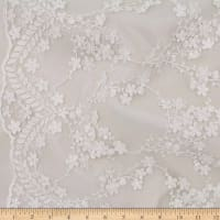 Telio Rosanna Mesh Embroidery Lace Ivory