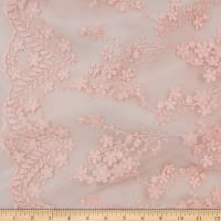Telio Rosanna Mesh Embroidery Lace Whisper Pink