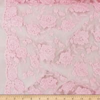 Telio Izzy Mesh Embroidery Lace Dusty Pink