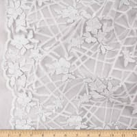 Telio Daisy Mesh Embroidery Lace White