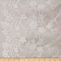 Telio Faye Mesh Embroidery Lace Off White