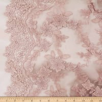 Telio Faye Mesh Embroidery Lace Blush