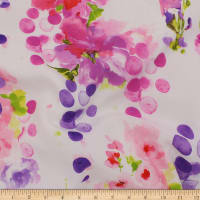 Telio Picasso Rayon Poplin Floral Pink