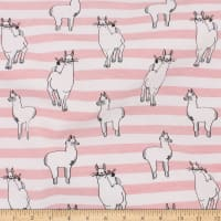 Telio Organic Stretch Cotton Jersey Llama Pink