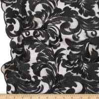 Telio Damask Mesh Embroidery Black