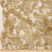 Telio Damask Mesh Embroidery Gold