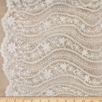 Telio Nellie Sequin Embroidered Lace Ivory