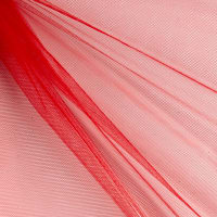 "54"" Polyester Tulle (Bolt, 40 Yards) Red"
