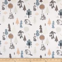 Winnie the Pooh Wonder & Whimsy Forest Friends Bamboo Flannel White