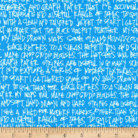 Kaufman Architextures Wide Text Paris Blue