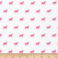Kaufman On The Lighter Side Unicorns Pink