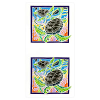 Kaufman Painted Panels Turtles Tropical