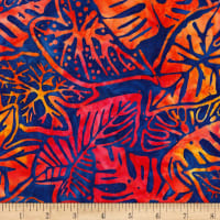 Kaufman Artisan Batiks Totally Tropical Multiple Leaves Primary