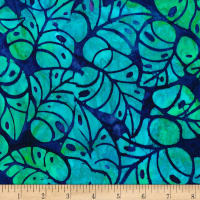 Kaufman Artisan Batiks Totally Tropical Leaves Riviera