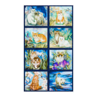 Kaufman Be Pawsitive Cat Panel Garden