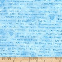 Kaufman Be Pawsitive Text Blue