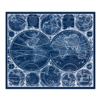 Kaufman Vintage Blueprints Digital Map Panel Blueprint