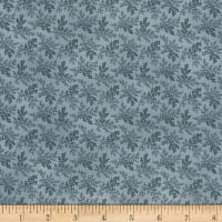 "Kaufman Charlotte C. 1860 108"" Wide Fern Dusty Blue"