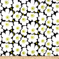Marimekko Mini Unikko Broadcloth Black/White/Green