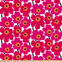 Marimekko Pieni Unikko Cotton Broadcloth Pink
