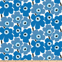 Marimekko Pieni Unikko Cotton Broadcloth Blue
