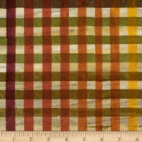Kaufman Artisan Batiks Hand Painted Gingham Check Redwood