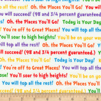 Kaufman Dr. Seuss Oh The Places You'll Go 2 Words Bright