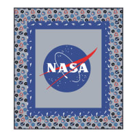 "Riley Blake Designs Out Of This World With NASA Official NASA LOGO 59"" x 53"" Quilt Kit Multi"