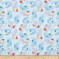 Wilmington Berry Sweet Berries and Word Toss Light Blue