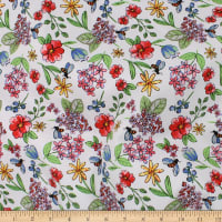 Telio Bloom Stretch Cotton Sateen Floral Coral