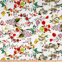 Telio Digital Linen Floral White Multi