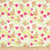 Wilmington Bloom True Tossed Floral Yellow