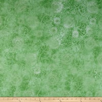 "Wilmington Essentials 108"" Backing Flower Burst Lime"