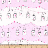 Michael Miller Twinkle Fairies Flannel Twinkle, Twinkle, Little Jars Starlight