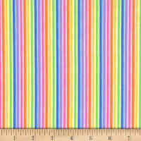 Michael Miller Fabrics Over the Rainbow Stripe Rainbow