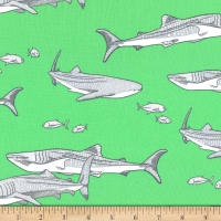 Michael Miller Fabrics Shark Tales Sea
